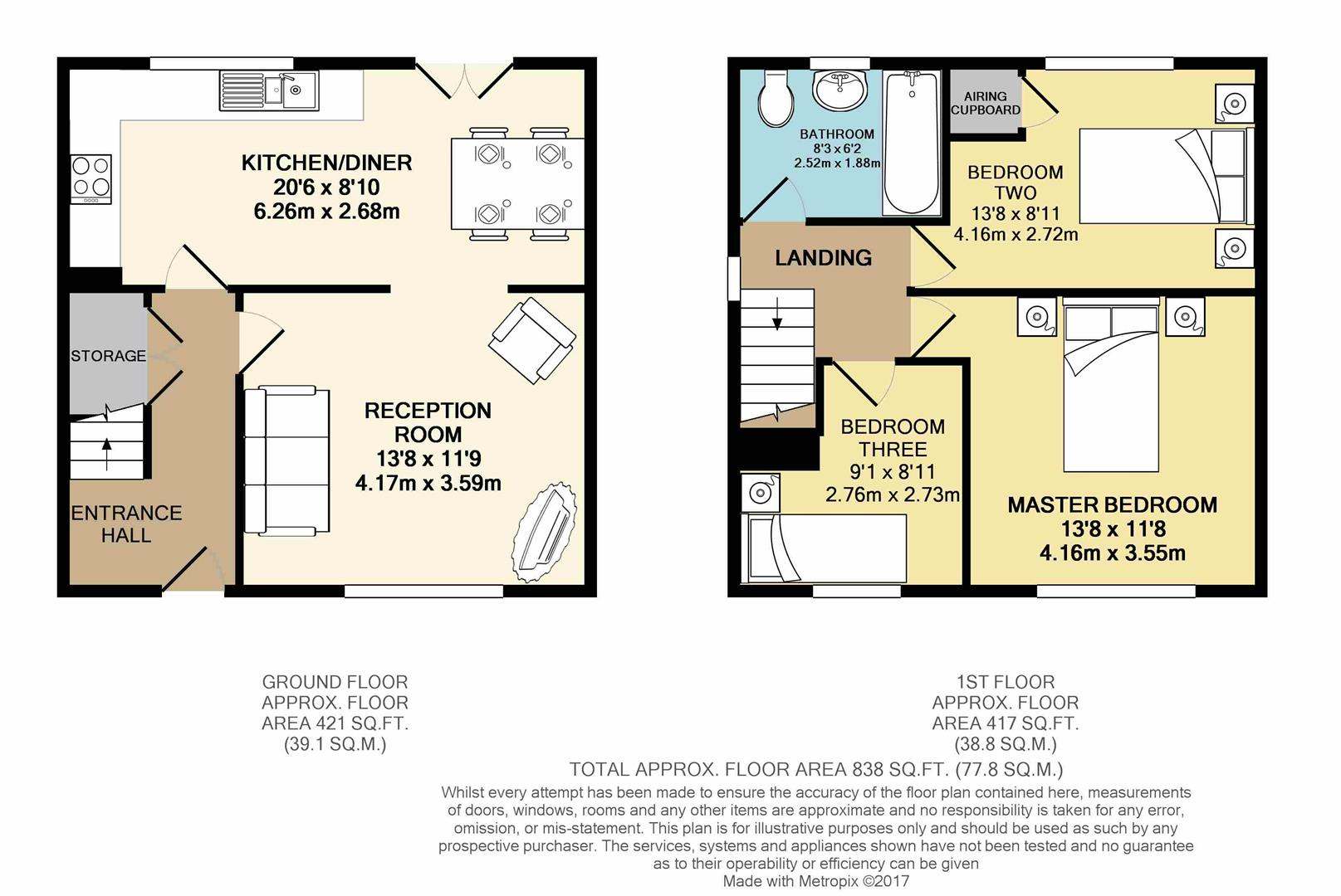 Floorplans For Keswick Drive, Chesterfield